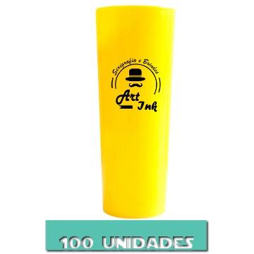 LONG DRINK AMARELO 350ML 100 UNIDADES