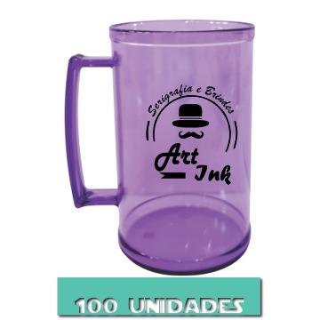 CANECA ROXO NEON 500ML (100 UNIDADES)