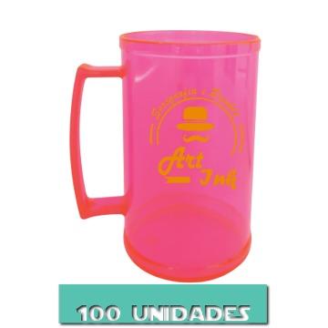 CANECA ROSA NEON 500ML (100 UNIDADES)