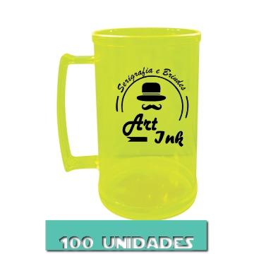 CANECA AMARELO NEON 500ML (100 UNIDADES)