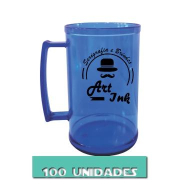 CANECA AZUL NEON 500ML (100 UNIDADES)