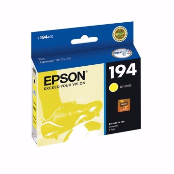 Cartucho de tinta Epson T194420-BR Amarelo 3 ml