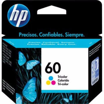 Cartucho de tinta colorido HP 60 - CC643WB