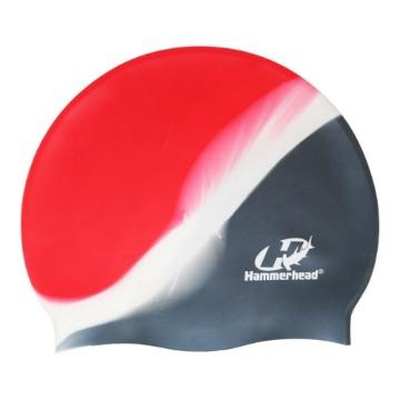 Touca de Silicone Multicor HammerHead prata branca vermelha