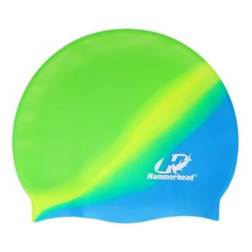 Touca de Silicone Multicor HammerHead verde amarela azul