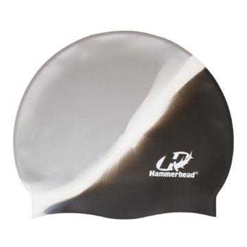 Touca de Silicone Multicor HammerHead prata preta branca