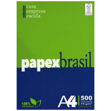 PAPEL A4 75GRS PAPEX BRASIL FSC 500 FLS