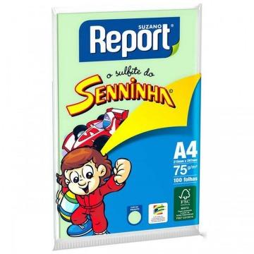 PAPEL A4 REPORT SENNINHA VERDE 75GRS 210X297MM PCT 100FLS
