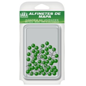 ALFINETE P/ MAPA VERDE ESCURO CX C/50 IARA