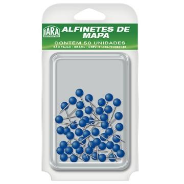 ALFINETE P/ MAPA AZUL ESCURO CX C/50 IARA