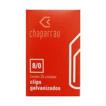 CLIPS GALVANIZADO N 8/0  (CX) C/ 170 CHAPARRAU