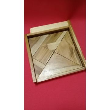 Tangram 160 mm c/ peças madeira maciça