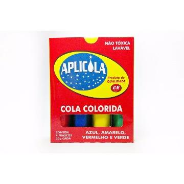 COLA COLORIDA APLICOLA 25G  EMB. C/04 UN.