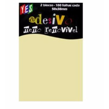 POST-IT 50 x 38 - 100 FLS AM 2 BL - YES