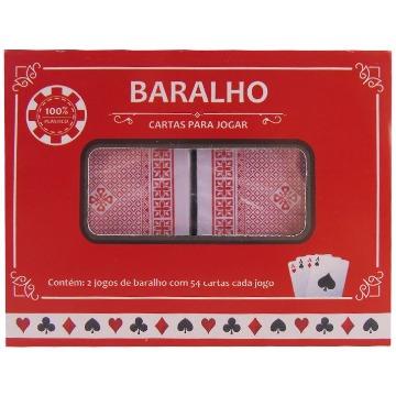 BARALHO, CARTAS PARA JOGAR. IMPORIENTE. 100% PLÁSTICO 2 JOGOS DE BARALHO C/ 54 CARTAS CADA