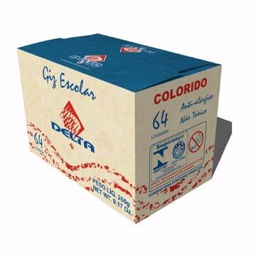 GIZ COLORIDO CX C/ 64 UNIDADES - DELTA