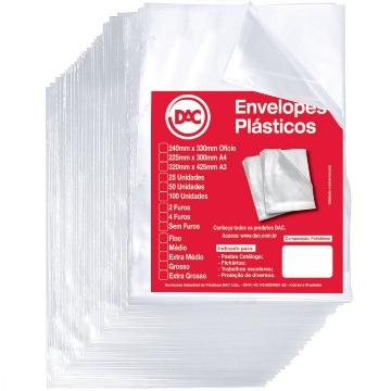 SACO PLASTICO DAC 0.20 SEM FUROS  (240x325MM) PCT C/100UN