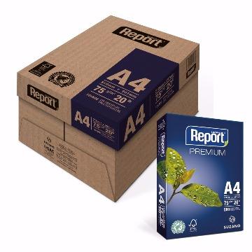 PAPEL SUZANO REPORT PREMIUM A4 75G/M2 500F CAIXA C/ 10 PACOTES