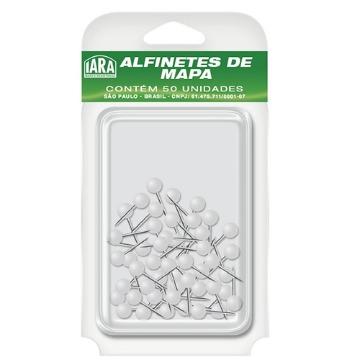 ALFINETE P/ MAPA BRANCO CX C/50 IARA