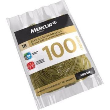 ELASTICO SUPER AMARELO MERCUR 100 UNIDADES