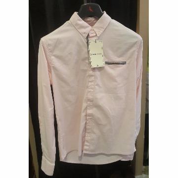 camisa social manga longa scaven rosa M