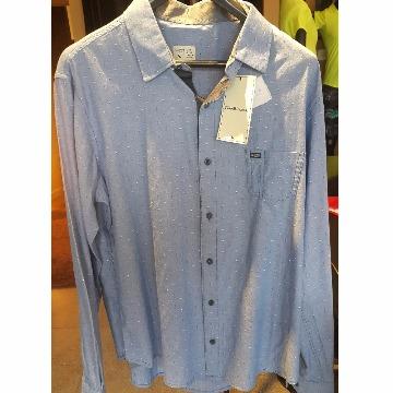 camisa social azul scaven