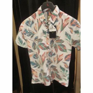 Camisa manga curta floral scaven P