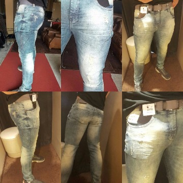 Calça jeans scaven destroyed