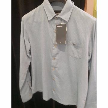 Camisa scaven de manga longa social azul claro com bolso P