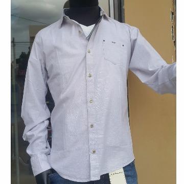 Camisa social scaven cinza claro P
