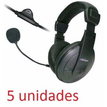 KIT COM 5 HEADSET OFFICE 1409 VULCÃO - BRIGHT