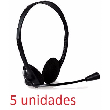 KIT COM 5 UNIDADES HEADSET OFFICE 10 - Bright