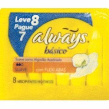 ABSORVENTE ALWAYS BASICO SU C/A L8 P7