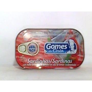 SARDINHA GOMES COSTA TOM 125G
