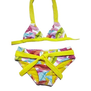 Biquíni Infantil Estampado Amarelo Tam 4 La Playa 40315
