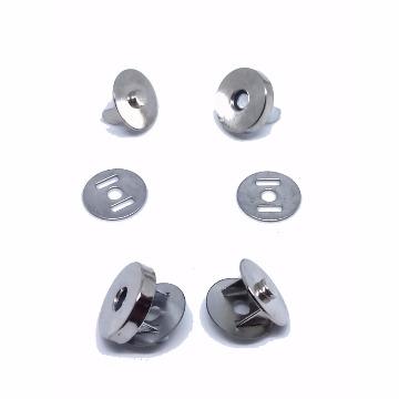 Botão Metal De Imã Para Artesanato Bolsas 14mm - 10 pçs
