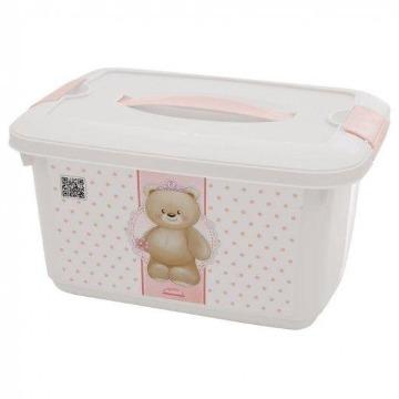 Caixa Organizadora Urso Rosa 5,2L Plasútil 8205