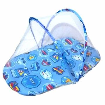 Colchonete Cama Berço Cercadinho Tenda Mosquiteiro Portátil Azul Pais&Filhos 7843
