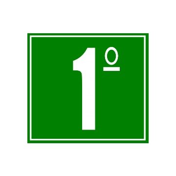 Placa Ident. de Pavimento 1 Andar - S17-1 14x14CM