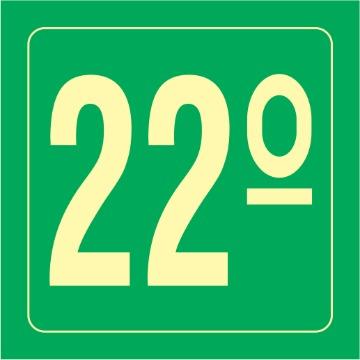 Placa Ident. Pavimento 22 Andar - S17-22 14x14CM