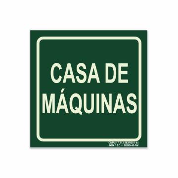 Placa Casa de Máquinas - S17-MAQ 14x14cm