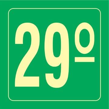 Placa Ident. Pavimento 29 Andar - S17-29 14x14CM