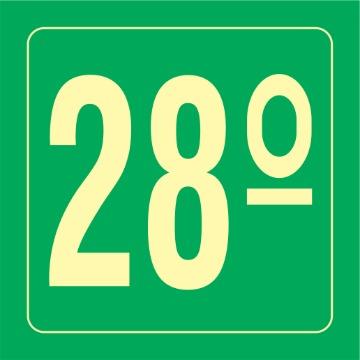 Placa Ident. Pavimento 28 Andar - S17-28 14x14CM