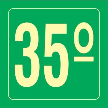Placa Ident. Pavimento 35 Andar - S17-35 14x14CM