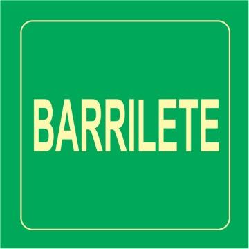 Placa Barrilete - S17-BAR 14x14cm