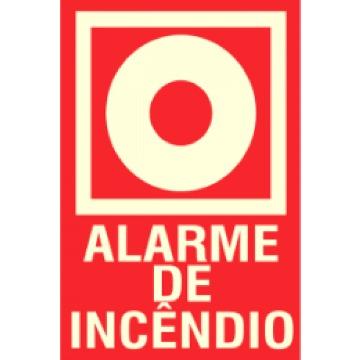Placa Botoeira Alarme De Incêndio E2 13x14