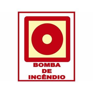 Placa Botoeira de Bomba de Incêndio - E3 13x14CM