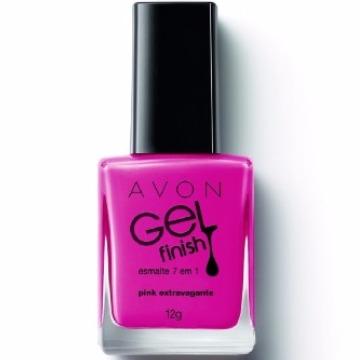 506171 Esmalte Gel Finish Pink Extravagante Avon 7 em 1 12g