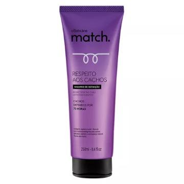 71673 Shampoo Boticário Respeito aos Cachos Match 250ml