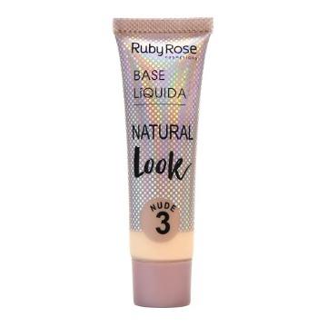 27955 Base Líquida Natural Nude 3 Ruby Rose 29ml